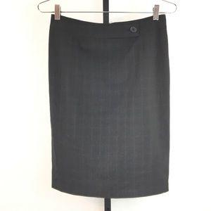 ANTONIO MELANI-Square Pattern Career Skirt-6